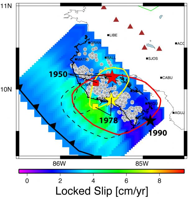 Seismogenic zone locking in Central America (2008)