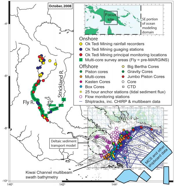 Papua New Guinea Focus Site activity map (2008)