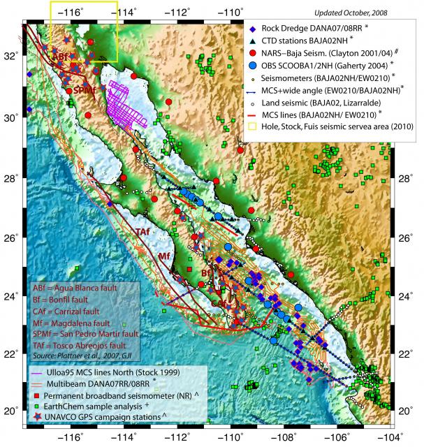 Gulf Of California Map.Gulf Of California Focus Site Activity Map 2008 Mediabank