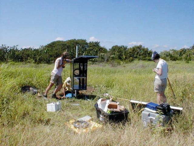Seismograph instrument installation (2010)